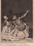 Fine Art - Work on Paper:Print, FRANCISCO JOSÉ DE GOYA (Spanish, 1746-1828). Si amanece, nósVamos (pl. 71 from Los Caprichos), 1799. Etching and aquati...