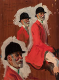 Paintings, ALFRED JAMES MUNNINGS (British, 1878-1959). Study for Robins Bolitho, Esq.. Oil on panel. 16 x 11-3/4 inches (40.6 x 29....