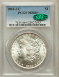 Morgan Dollars, 1882-CC $1 MS66+ PCGS. CAC....