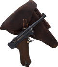 Handguns:Semiautomatic Pistol, German Erfurt Model P08 1913 Luger Semi-Automatic Pistol withHolster....