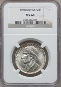 Commemorative Silver, 1938 SET Boone PDS Set MS64 to MS66 NGC.... (Total: 3 coins)