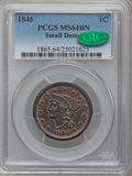 Large Cents, 1846 1C Small Date MS64 Brown PCGS. CAC. N-18, R.1....