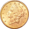 Liberty Double Eagles, 1876-CC $20 MS61 PCGS. CAC. Variety 3-A....