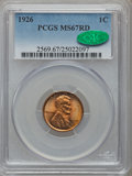 Lincoln Cents, 1926 1C MS67 Red PCGS. CAC....