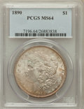 Morgan Dollars: , 1890 $1 MS64 PCGS. PCGS Population (3555/443). NGC Census:(4076/303). Mintage: 16,802,590. Numismedia Wsl. Price for probl...
