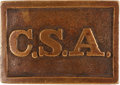 Militaria:Uniforms, Civil War Confederate rectangular CSA waist belt plate....