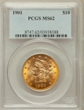 Liberty Eagles: , 1901 $10 MS62 PCGS. PCGS Population (5402/5975). NGC Census:(8313/9567). Mintage: 1,718,825. Numismedia Wsl. Price for pro...