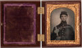 Photography:Ambrotypes, Ninth Plate Civil War Ruby Ambrotype of a Young Federal Infantryman....