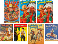 Cowboy Related Coloring Book Group (Merrill Publishing Co., 1940s) Condition: Average VF-