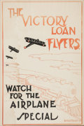 """Military & Patriotic:WWI, Fantastic WWI Victory Loan Poster """"The Victory Loan Flyers WatchFor the Airplane Special""""...."""
