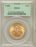 Liberty Eagles: , 1899 $10 MS64 PCGS. PCGS Population (348/37). NGC Census:(1297/231). Mintage: 1,262,305. Numismedia Wsl. Price forproblem...