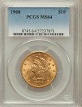 Liberty Eagles: , 1900 $10 MS64 PCGS. PCGS Population (194/17). NGC Census: (419/64).Mintage: 293,960. Numismedia Wsl. Price for problem fre...