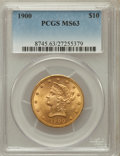 Liberty Eagles: , 1900 $10 MS63 PCGS. PCGS Population (862/211). NGC Census:(1552/483). Mintage: 293,960. Numismedia Wsl. Price for problem ...