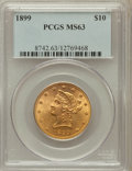 Liberty Eagles: , 1899 $10 MS63 PCGS. PCGS Population (1990/385). NGC Census:(5522/1528). Mintage: 1,262,305. Numismedia Wsl. Price for prob...