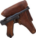 Handguns:Semiautomatic Pistol, German DWM Model 1918 Luger Semi-Automatic Pistol with Holster....