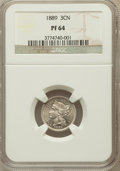 Proof Three Cent Nickels: , 1889 3CN PR64 NGC. NGC Census: (238/667). PCGS Population(328/701). Mintage: 3,436. Numismedia Wsl. Price for problemfree...
