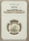 Standing Liberty Quarters: , 1917 25C Type One MS64 Full Head NGC. NGC Census: (1290/1108). PCGSPopulation (1694/1440). Mintage: 8,740,000. Numismedia ...