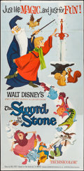 "Movie Posters:Animation, The Sword in the Stone (Buena Vista, 1963). Three Sheet (41"" X84""). Animation.. ..."