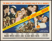 """In Love and War & Other Lot (20th Century Fox, 1958). Half Sheets (2) (22"""" X 28""""). War. ... (Total: 2 Item..."""