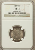 Liberty Nickels: , 1899 5C MS64 NGC. NGC Census: (262/185). PCGS Population (360/224).Mintage: 26,029,032. Numismedia Wsl. Price for problem ...