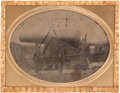 Photography:Tintypes, Quarter Plate Civil War Tintype of Two Large Rodeman Guns,...