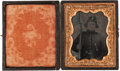 Photography:Tintypes, Ninth Plate Civil War Ruby Ambrotype, of ID'd FederalInfantryman....