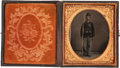 Photography:Tintypes, Very Nice Sixth Plate Civil War Tintype of Armed FederalInfantryman....