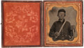 Photography:Tintypes, Nice Sixth Plate Civil War Tintype of a Young Federal Cavalryman,...