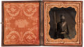 Photography:Tintypes, Sixth Plate Civil War Tintype of a Grizzled Federal Infantryman,...
