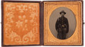 Photography:Tintypes, Exceptional Sixth Plate Civil War Tintype of a FederalInfantryman,...