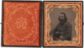 Photography:Tintypes, Very Fine Sixth Plate Civil War Tintype very likely ConfederateSoldier,...