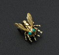 Estate Jewelry:Brooches - Pins, Antique German Gold &Turquoise Bee Pin. ...