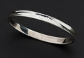 Estate Jewelry:Bracelets, Tiffany & Co. Sterling Silver 1837 Bangle Bracelet. ...