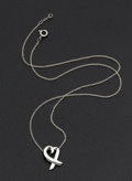 Estate Jewelry:Pendants and Lockets, Tiffany & Co. Paloma Picasso Silver Heart Pendant. ...