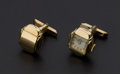Estate Jewelry:Cufflinks, Vintage Gothic Jarproof Watch Cufflinks. ...