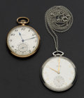 Timepieces:Pocket (post 1900), Elgin & Carlton Open Face Pocket Watches. ... (Total: 2 Items)