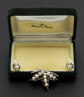Estate Jewelry:Suites, Mikimoto Pearl Earrings and Brooch. ... (Total: 2 Items)