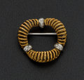 Estate Jewelry:Brooches - Pins, 18k Gold Wreath Brooch. ...