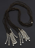 Estate Jewelry:Necklaces, Quartz & Freshwater Pearl Gold Necklace. ...
