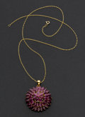 Estate Jewelry:Necklaces, Ruby & Gold Necklace. ...