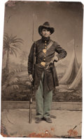 Photography:Tintypes, Civil War Tintype of a Western Theater Federal Infantryman....