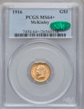 Commemorative Gold, 1916 G$1 McKinley MS64+ PCGS. CAC....