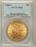 Liberty Double Eagles: , 1898-S $20 MS63 PCGS. PCGS Population (3109/1344). NGC Census:(3706/1142). Mintage: 2,575,175. Numismedia Wsl. Price for p...