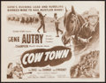 "Movie Posters:Western, Cow Town and Other Lot (Columbia, R-1956). Half Sheets (2) (22"" X 28""). Western.. ... (Total: 2 Items)"