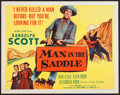 "Movie Posters:Western, Man in the Saddle (Columbia, R-1959). Half Sheet (22"" X 28""). Western.. ..."