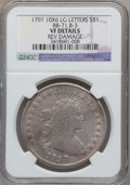 Early Dollars, 1797 $1 10x6 Stars, Large Letters -- Reverse Damage -- NGC Details.VF. B-3, BB-71, R.2....