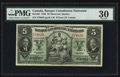 Canadian Currency: , Montreal, PQ- Banque Canadienne Nationale $5 Jan. 2, 1935 Ch. #85-14-02. ...