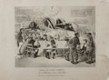 Books:Prints & Leaves, David Claypoole Johnston. Lithograph Entitled, Much Ado AboutNothing or a Militia Court-Martial!! Kimball, ca. ...