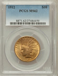 Indian Eagles: , 1912 $10 MS62 PCGS. PCGS Population (2068/1198). NGC Census:(2494/1388). Mintage: 405,083. Numismedia Wsl. Price for probl...