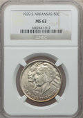 Commemorative Silver: , 1939-S 50C Arkansas MS62 NGC. NGC Census: (12/462). PCGS Population(41/665). Mintage: 2,105. Numismedia Wsl. Price for pro...